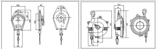 40-70kg三国弹簧平衡器结构尺寸图