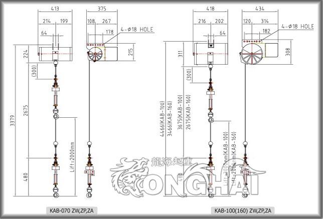 khc-zw气动平衡器结构
