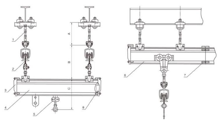 sh滑轨系统:轨道平移滑车装置基本结构形式图