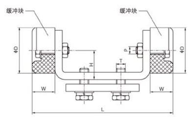 st-hcs型双向缓冲器结构尺寸图